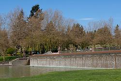 North America, United States, Washington, Bellevue,huge fountain in  Bellevue Downtown Park