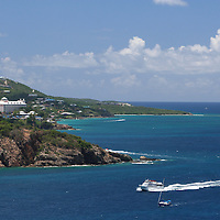 View of St. Thomas, USVI from Water Island off the coast of Charlotte Amalie.