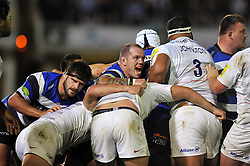Paul James of Bath Rugby smiles after Bath are awarded a penalty - Photo mandatory by-line: Patrick Khachfe/JMP - Mobile: 07966 386802 03/10/2014 - SPORT - RUGBY UNION - Bath - The Recreation Ground - Bath Rugby v Saracens - Aviva Premiership