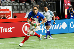 March 9, 2019 - Vancouver, BC, U.S. - VANCOUVER, BC - MARCH 09: Pierre Gilles Lakafia #8 of France during Game #19- Spain 7s vs France 7s in Pool C match-up at the Canada Sevens held March 9-10, 2019 at BC Place Stadium in Vancouver, BC, Canada. (Photo by Allan Hamilton/Icon Sportswire) (Credit Image: © Allan Hamilton/Icon SMI via ZUMA Press)