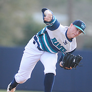Evan Phillips pitches against Wake Forest Sunday February 22, 2015 during the Hughes Brothers Challenge at Brooks Field. (Jason A. Frizzelle)