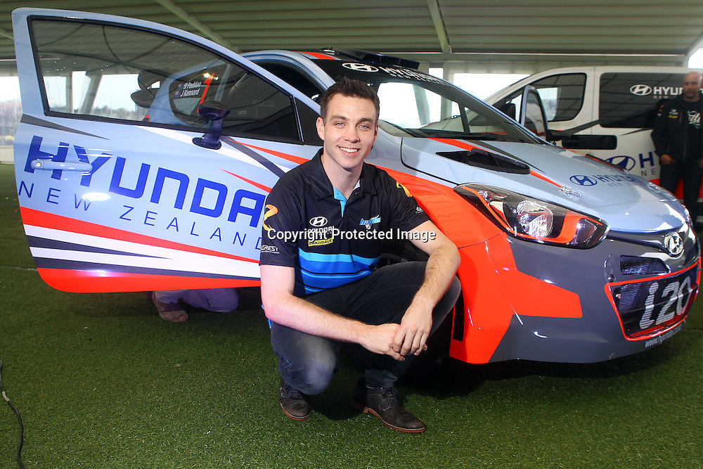 Hayden Paddon and Hyundai New Zealand announce a new rally car. Ellerslie Events Centre, Auckland. 24 March 2016. Copyright Image: William Booth / www.photosport.nz
