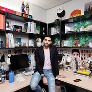 December 14, 2016 - New York, NY : Phillip Picardi, Digital Editorial Director at Teen Vogue, poses for a portrait in his office in One World Trade in Manhattan on Wednesday afternoon. CREDIT: Karsten Moran for The New York Times
