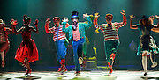 The Mad Hatter's Tea Party <br /> by Zoo Nation<br /> directed by Kate Prince<br /> presented by Zoo Nation, The Roundhouse & The Royal Opera House<br /> at The Roundhouse, London, Great Britain <br /> rehearsal <br /> 29th December 2016 <br /> <br /> Tommy Franzen as Ernest <br /> <br /> Issac Turbo Baptiste<br /> as the Mad Hatter - centre <br /> <br /> Teneisha Bonner as The Queen of Hearts <br /> <br /> Kayla Lomas-Kirton as Alice <br /> <br /> Rowen Hawkins as Tweedle Dum <br /> <br /> Manny Tsakanika as Tweedle Dee<br /> <br /> Bradley Charles as the March Hare <br /> <br /> Andry Oporia as The Cheshire Cat <br /> <br /> Jaith Betote as The White Rabbit <br /> <br /> Photograph by Elliott Franks <br /> Image licensed to Elliott Franks Photography Services