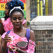 Thousands attend the first day of the Notting Hill Carnival in west London on August 26, 2018. Nearly one million people are expected by the organizers regradless of the wet weather Sunday and Monday in the streets of west London's Notting Hill to celebrate Caribbean culture at a carnival considered the largest street demonstration in Europe, London, UK