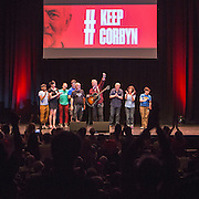 Robb Johnson  sings 'The Red Flag' to finish the #KeepCorbyn event, part of the #JC4PM tour a fringe event orgainised as part of the TUC 2016 by PCS. Brighton, UK.