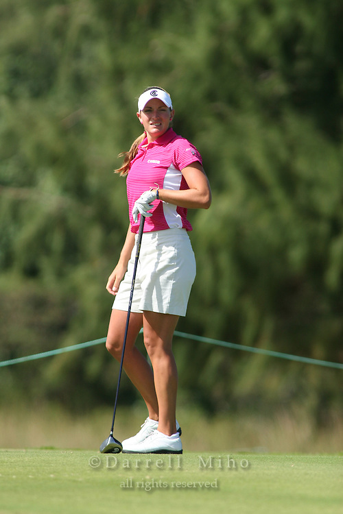 February 16, 2006 - Kahuku, HI - Brittany Lang during Round 1 of the LPGA SBS Open at Turtle Bay Resort...Photo: Darrell Miho