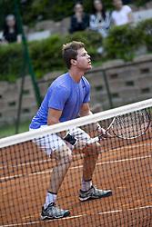 June 19, 2018 - L'Aquila, Italy - Ariel Behar during match between Facundo Bagnis (ARG)/Ariel Behar (URU) and Andrea Arnaboldi/Daniele Bracciali (ITA) during day 4 at the Internazionali di Tennis Citt dell'Aquila (ATP Challenger L'Aquila) in L'Aquila, Italy, on June 19, 2018. (Credit Image: © Manuel Romano/NurPhoto via ZUMA Press)