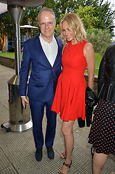 HANS ULRICH OBRIST and BODIL BLAIN at an Evening at The River Cafe in aid of the NSPCC held at The River Cafe, Thames Wharf, Rainville Road, London on 19th June 2016
