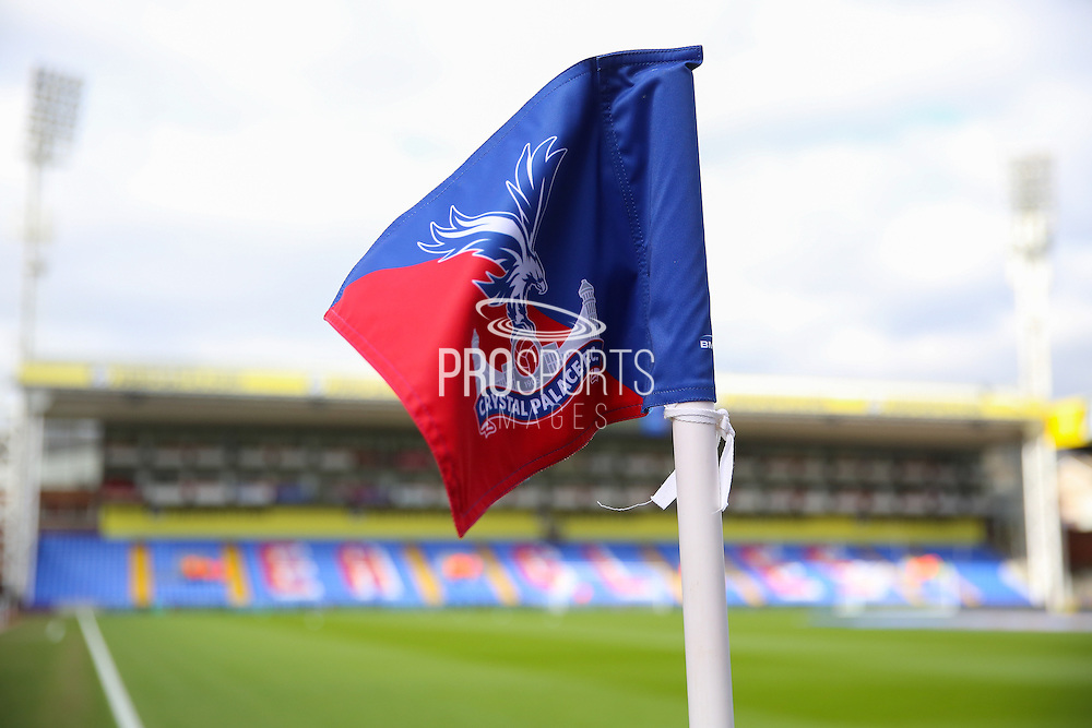 Corner flag before the Barclays Premier League match between Crystal Palace and Leicester City at Selhurst Park, London, England on 19 March 2016. Photo by Phil Duncan.