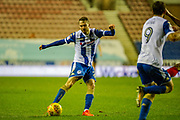 Wigan Nick Powell (25) during the EFL Sky Bet League 1 match between Wigan Athletic and Fleetwood Town at the DW Stadium, Wigan, England on 9 December 2017. Photo by Michał Karpiczenko.