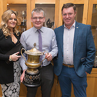 Cooraclare Publicans Susan O'Shaughnessy, and Thomas O'Doherty with Cooraclare Chairman Joe Morrissey