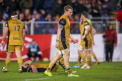 Mitch Eadie of Bristol Rugby looks dejected after Bath Rugby hold on to win 16-9 - Rogan Thomson/JMP - 18/11/2016 - RUGBY UNION - Recreation Ground - Bath, England - Bath Rugby v Bristol Rugby - Aviva Premiership.