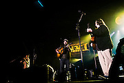 Zac Brown joins Eli Levi on stage during his opening set for Zac Brown's Breaking Southern Ground Tour