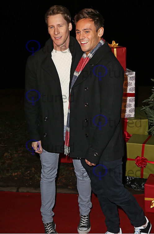 Dustin Lance Black & Tom Daley, Winter Wonderland - VIP Launch, Hyde Park, London UK, 19 November 2015, Photo by Brett D. Cove