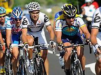 Sykkel<br /> Tour de France<br /> Foto: DPPI/Digitalsport<br /> NORWAY ONLY<br /> <br /> CYCLING - TOUR DE FRANCE 2009 - LA GRANDE-MOTTE (FRA) - 06/07/2009<br /> <br /> STAGE 3 - MARSEILLE > LA GRANDE MOTTE - LANCE ARMSTRONG (USA) / ASTANA - THOR HUSHOVD (NOR) / CERVELO TEST TEAM