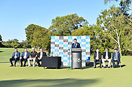 PERTH, AUSTRALIA - FEBRUARY 17: Awards and Trophy Presentation at the ISPS Handa World Super 6, Lake Karrinyup Country Club, Perth, Western Australia, on February 17, 2019. <br /> .<br /> .<br /> .<br /> (Photo by: Naratip Golf Srisupab/SEALs Sports Images)<br /> .<br /> Any image use must include a mandatory credit line adjacent to the content which should read: Naratip Golf Srisupab/SEALs Sports Images