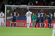 Kevin Trapp (PSG), Julien FERET (SM Caen), Blaise Mathuidi (psg), Presnel Kimpembe (PSG), Maxwell Scherrer Cabelino Andrade (psg), Edinson Roberto Paulo Cavani Gomez (psg) (El Matador) (El Botija) (Florestan), Jonathan DELAPLACE (SM Caen) to kick the penalty during the French Championship Ligue 1 football match between Paris Saint-Germain and SM Caen on May 20, 2017 at Parc des Princes stadium in Paris, France - Photo Stephane Allaman / ProSportsImages / DPPI
