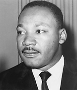 Martin Luther King  Jnr (1929-68). American black civil rights campaigner. Assassinated, supposedly  by James Earl Ray