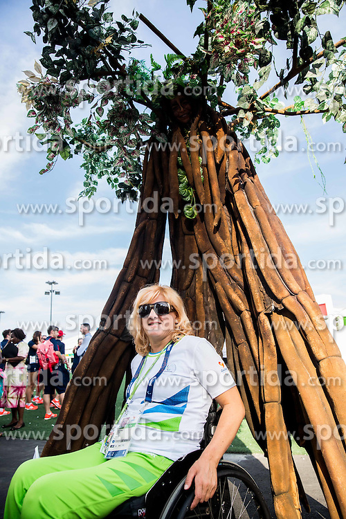Veselka Pevec of Slovenia posing after the Village flag raising ceremony ahead of the Rio 2016 Summer Paralympics Games on September 4, 2016 in the Paralympic Village, Rio de Janeiro, Brazil. Photo by Vid Ponikvar / Sportida