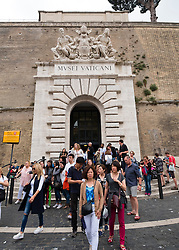 Tourists leaving the Vatican Museum in Rome, Italy