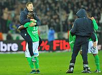 Fotball<br /> Frankrike<br /> Foto: Panoramic/Digitalsport<br /> NORWAY ONLY<br /> <br /> ALEXANDER SØDERLUND (asse) - FLORENTIN POGBA (asse) - JOIE<br /> <br /> Saint Etienne vs Lyon - Ligue 1 - 17/01/2016