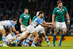 Argentina Scrum-Half Martin Landajo in action - Mandatory byline: Rogan Thomson/JMP - 07966 386802 - 18/10/2015 - RUGBY UNION - Millennium Stadium - Cardiff, Wales - Ireland v Argentina - Rugby World Cup 2015 Quarter Finals.