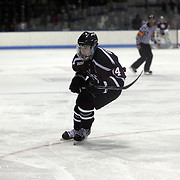 Shayne Gostisbehere, Union College, in action during the Yale Vs Union College, Men's College Ice Hockey game at Ingalls Rink, New Haven, Connecticut, USA. 28th February 2014. Photo Tim Clayton