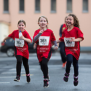 25.08. 2017.                                                      <br /> Almost 200 UL Hospitals Group staff, past and present, and members of the public completed the annual 5k Charity Run/Walk on Friday August 25th in Limerick.<br /> <br /> Heading for the finish line were, Olivia Kiernan, Megan Kiernan and Clodagh O'Hagan.<br /> <br /> <br /> Everybody who participated also raised funds for Friends of Ghana, an NGO formed last year by UL Hospitals Group and its academic partner the University of Limerick to deliver medical training programmes in the remote Upper West Region of Ghana. Picture: Alan Place