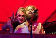 5/6/2010.Liam O Maonlai (right) and Peter O'Toole of the Hothouse Flowers pictured at their concert at the Bridge Brook Arms in Thomastown County Kilkenny at the Happy Valley Festival..Picture Dylan Vaughan