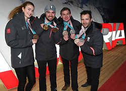 16.02.2018, Austria House, Pyeongchang, KOR, PyeongChang 2018, Medaillenfeier, im Bild Rodel Team // during a medal celebration of the Pyeongchang 2018 Winter Olympic Games at the Austria House in Pyeongchang, South Korea on 2018/02/16. EXPA Pictures © 2018, PhotoCredit: EXPA/ Erich Spiess