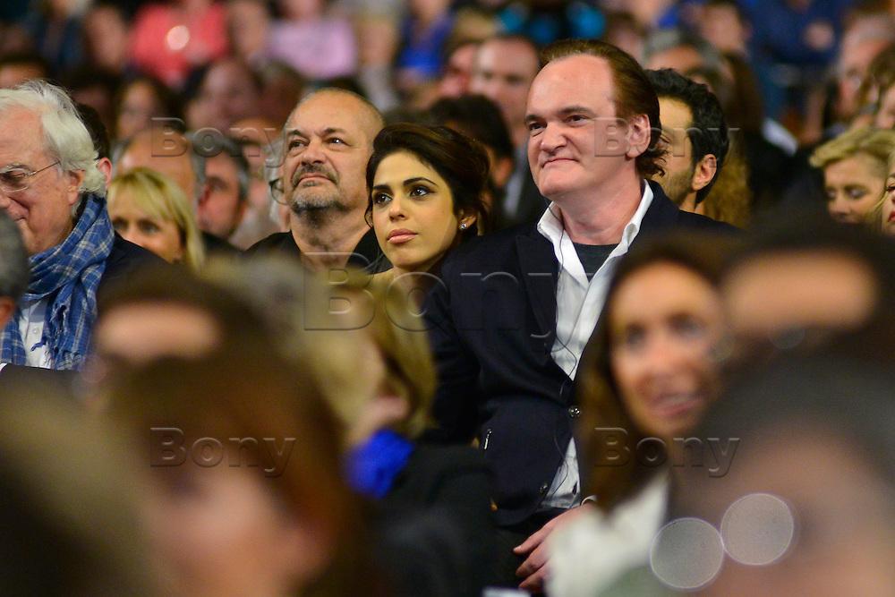 Quentin Tarantino &amp; his girlfriend Daniela Pick<br /> Lyon 8 oct 2016 - Festival Lumi&egrave;re 2016 - C&eacute;r&eacute;monie d&rsquo;Ouverture<br /> 8th Film Festival Lumiere In Lyon : Opening Ceremony