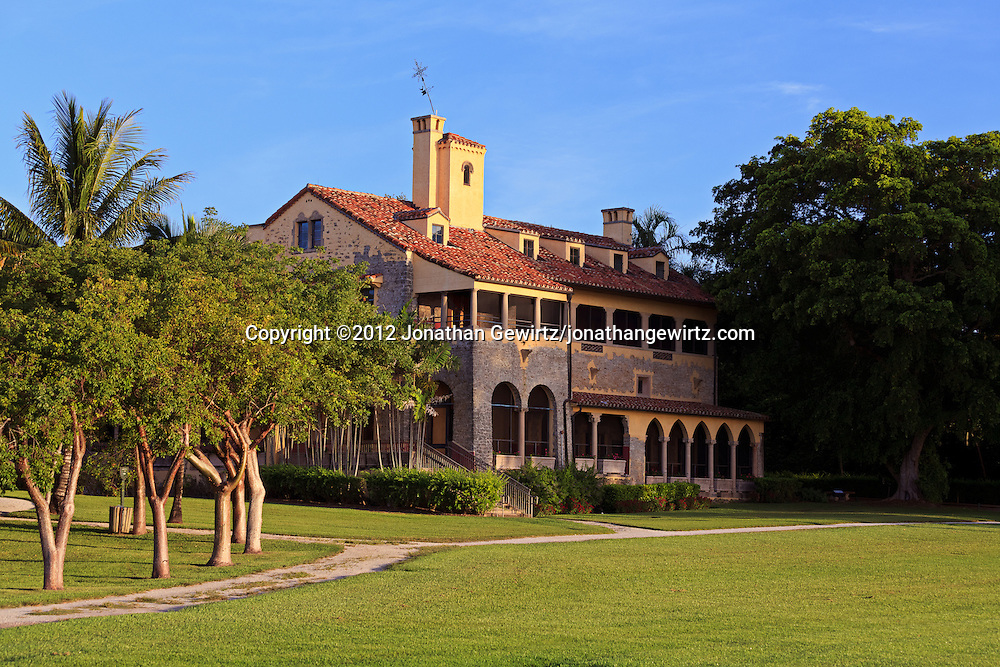 The main house at the Charles Deering Estate at Cutler, Miami, Florida. WATERMARKS WILL NOT APPEAR ON PRINTS OR LICENSED IMAGES.