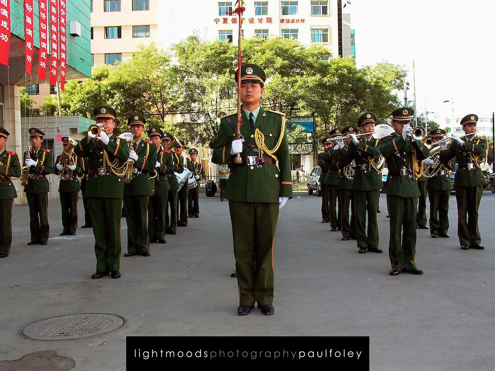 Army Band, Ningxia province, China