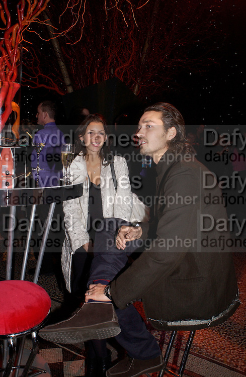 Liberty Ross and her husband, European premiere of Cirque de Soleil's Dralion, Royal Albert Hall and afterwards at the Natural History Museum, 8 January 2003.  .© Copyright Photograph by Dafydd Jones 66 Stockwell Park Rd. London SW9 0DA Tel 020 7733 0108 www.dafjones.com
