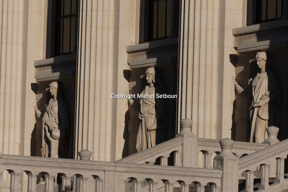 France. paris. 1st district , Palais de Jusctice facade and sculptures
