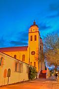 Sunrise at St. Mary's Basilica in downtown Phoenix, Arizona