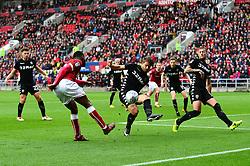 Jonathan Leko of Bristol City puts in a cross - Mandatory by-line: Dougie Allward/JMP - 21/10/2017 - FOOTBALL - Ashton Gate Stadium - Bristol, England - Bristol City v Leeds United - Sky Bet Championship