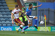 Joe Thompson shoots during the EFL Sky Bet League 1 match between Rochdale and Bradford City at Spotland, Rochdale, England on 21 April 2018. Picture by Daniel Youngs.