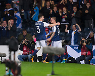 4th September 2017, Hampden Park, Glasgow, Scotland; World Cup Qualification, Group F; Scotland versus Malta; Scotland's Leigh Griffiths is congratulated by Andy Robertson after scoring for 2-0