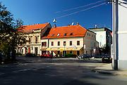 Buildings in main street. Petrinja, Croatia