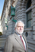 Appelate defense attorney Dennis Riordan outside of the Ninth Circuit Court of Appeals..photo by Jason Doiy-All Righs Reserved.