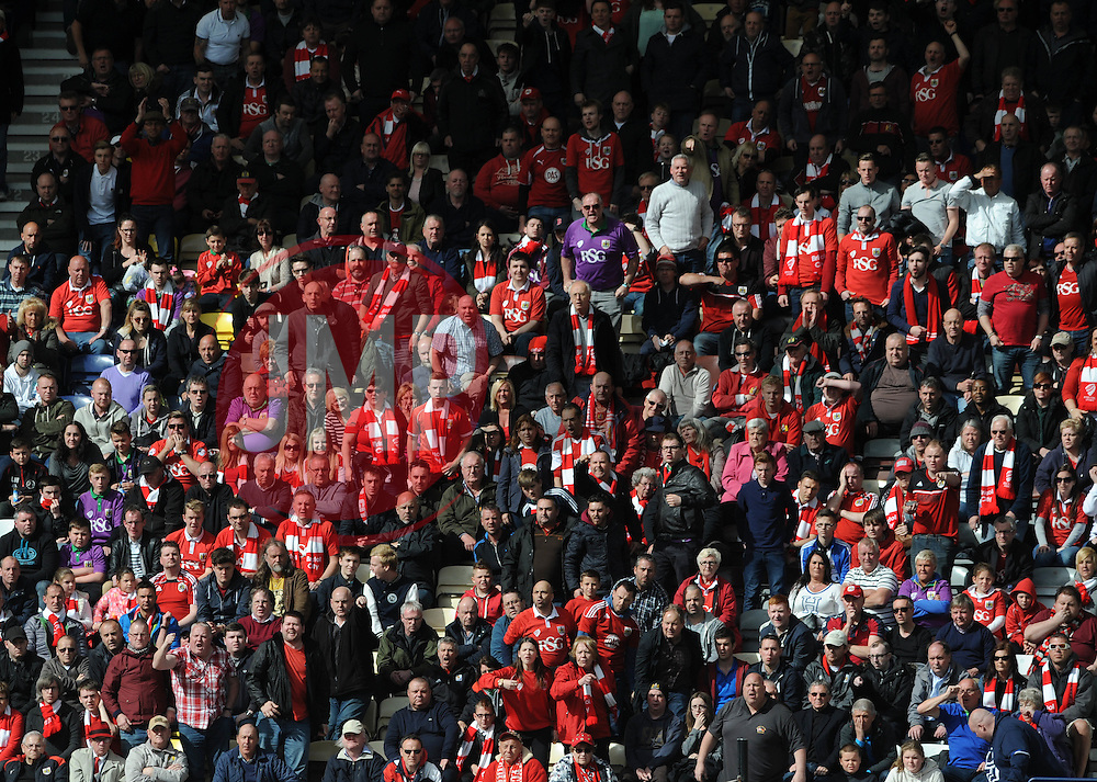 Bristol City fans - Photo mandatory by-line: Dougie Allward/JMP - Mobile: 07966 386802 - 11/04/2015 - SPORT - Football - Preston - Deepdale - Preston North End v Bristol City - Sky Bet League One