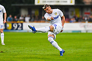 Leeds United Ezgjan Alioski (10) takes a shot during the Pre-Season Friendly match between Tadcaster Albion and Leeds United at i2i Stadium, Tadcaster, United Kingdom on 17 July 2019.
