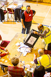 Pictured: <br /> The election count contiues as the clocks turn towards midnight.<br /> <br /> Ger Harley | EEm 8 June 2017
