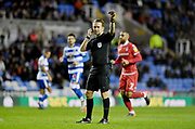 Referee Oliver Langford  during the EFL Sky Bet Championship match between Reading and Nottingham Forest at the Madejski Stadium, Reading, England on 12 January 2019.