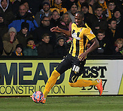 Cambridge United Tom Elliott during the The FA Cup match between Cambridge United and Manchester United at the R Costings Abbey Stadium, Cambridge, England on 23 January 2015. Photo by Phil Duncan.