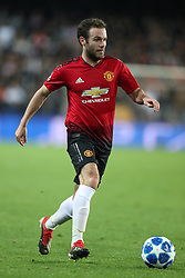 December 12, 2018 - Valencia, Spain - December 12, 2018 - Valencia, Spain - .Juan Mata of Manchester United during the UEFA Champions League, Group H football match between Valencia CF and Manchester United on December 12, 2018 at Mestalla stadium in Valencia, Spain (Credit Image: © Manuel Blondeau via ZUMA Wire)