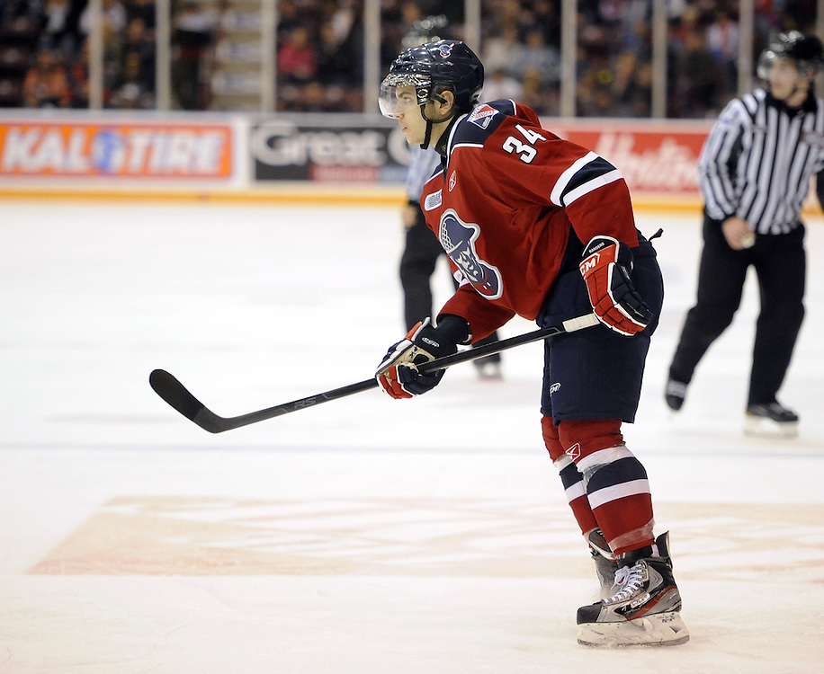 Max Iafrate of the Kitchener Rangers. Photo by Aaron Bell/OHL Images