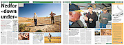 "Title: ""Feeling down ""down under."" Years of several drought in Australia has made it impossible for farmer Frank Sibraa to retire. Writer: Frode Frøyland. Published in Dagens Næringsliv Oct. 2007."